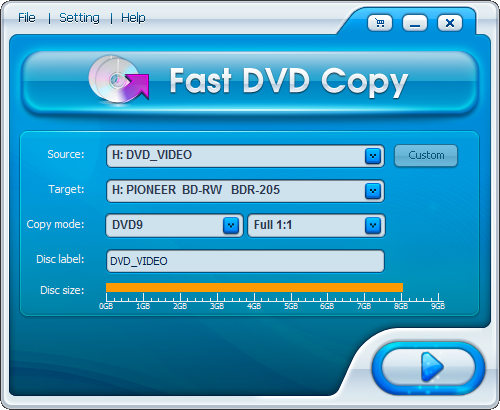 Fast DVD Copy software - fast copy DVD movies to DVD R discs.