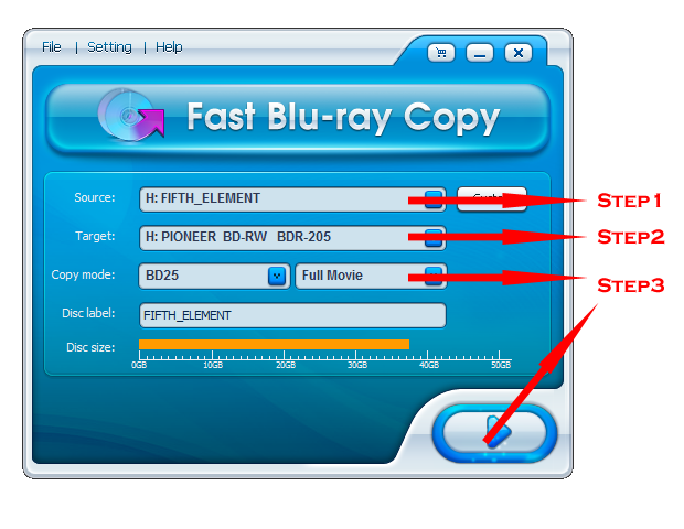 Fast Blu-ray Copy software - fast copy Blu-ray movies to BD